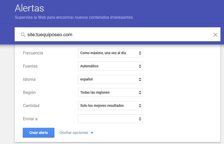 crear alertas en google alertas