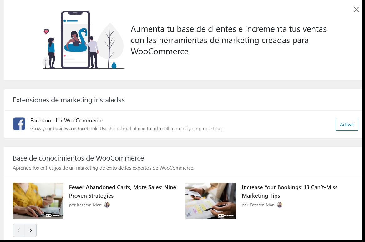 Marketing en WooCommerce